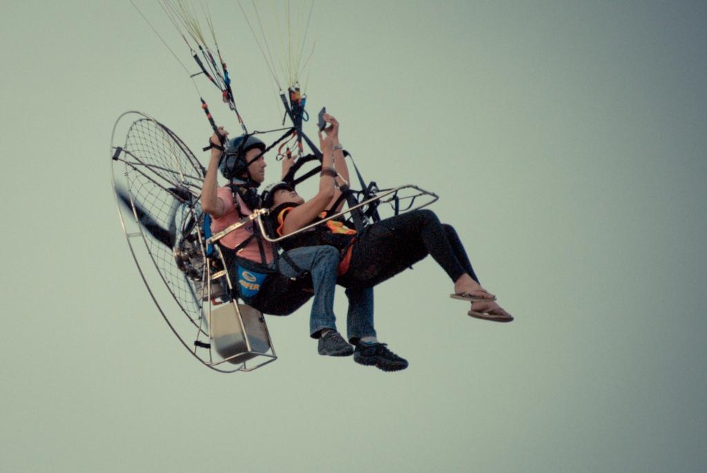 Clark, Hot Air Balloon, Motorized, Paragliding